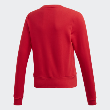 Sweat-shirt Bold Crew Rouge Filles Training