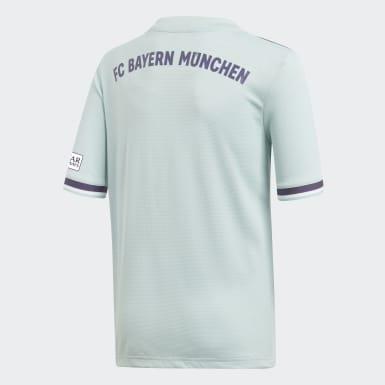 Kinder Fußball FC Bayern München Auswärtstrikot Türkis