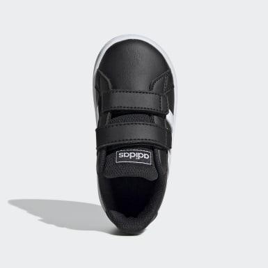 Chaussure Grand Court. Noir Enfants Lifestyle