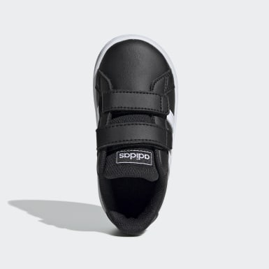 Kids Lifestyle Black Grand Court Shoes