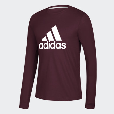 Men's Essentials Burgundy Badge of Sport Tee
