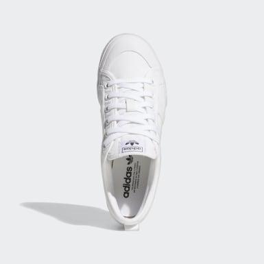 ผู้หญิง Originals สีขาว รองเท้าพื้นหนา Nizza