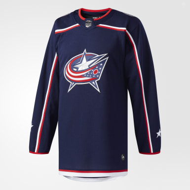 Maillot Blue Jackets Domicile Authentique Pro