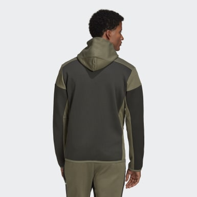 Muži Athletics zelená Mikina adidas Z.N.E. AEROREADY Full-Zip
