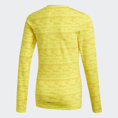 T-shirt adidas x Classic LEGO® Bricks Long Sleeve Fitted Jaune Enfants Training