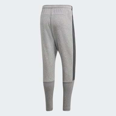 Pants Must Haves 3 Franjas Tiro Gris Hombre Athletics