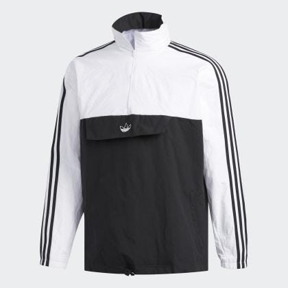 Jacke Adidas Outline Deutschland Schwarz zip Anorak BlackWhite Half vNnm80w