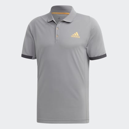 Deutschland New ThreeFlash York Grey Orange Adidas Poloshirt Grau N80wOvmn