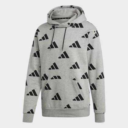 Allover Grau HeatherBlack Medium Grey Adidas Hoodie Athletics Deutschland Pack PXZuiOk