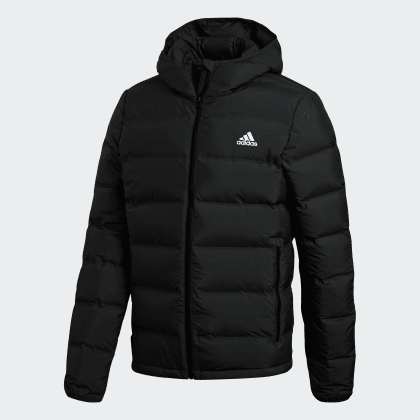 Adidas Schwarz Daunenjacke Black Deutschland Helionic Hooded EordeWQCxB