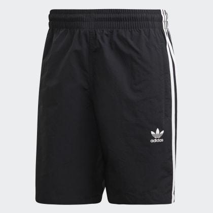 Deutschland Badeshorts streifen Adidas 3 Schwarz Black wZkXiuPOTl