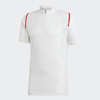 White Weiß T Mccartney shirt Adidas Court By Stella Zip Deutschland v0mNw8On