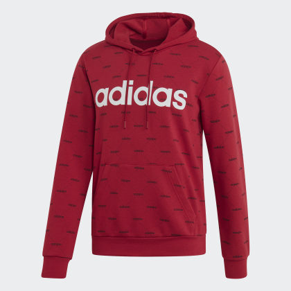 Active Rot Linear Graphic MaroonBlack Deutschland Adidas Hoodie PynmwvNO80