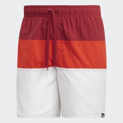 Adidas Colorblock Badeshorts MaroonOrange Active Rot Deutschland qc4A3jS5RL
