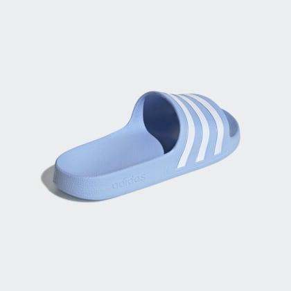 Adilette White Adidas Glow Blau Aqua Deutschland BlueCloud 34AjLRqc5