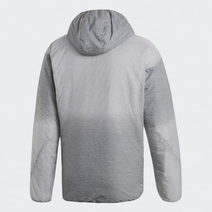 FourWhite Jacke Adidas Deutschland Grey Hooded Insulated Windweave Grau hdsQrCt