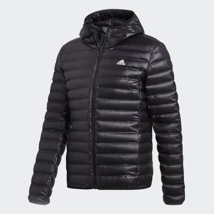 Black Adidas Daunenjacke Hooded Schwarz Varilite Deutschland QhdstrC