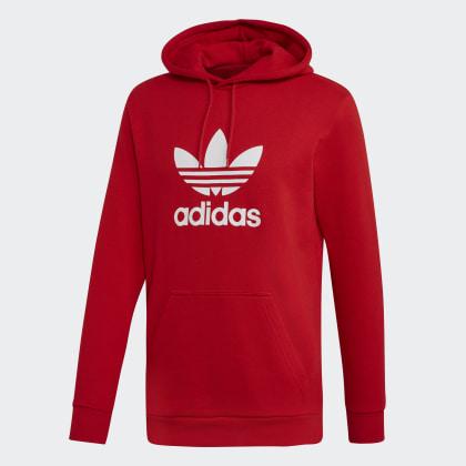 Adidas Deutschland ScarletWhite Hoodie Trefoil Rot ChBQdxsotr