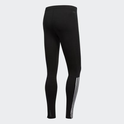 Schwarz BlackWhite Adidas Running streifen 3 Tight Deutschland XkiPZu
