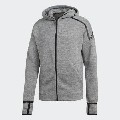 Grau Hoodie Z eFast Adidas Release GreyBlack n Deutschland JclFKT1