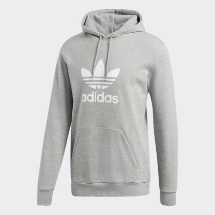 Medium Adidas Hoodie Grey Heather Deutschland Trefoil Grau IY6mfyvgb7