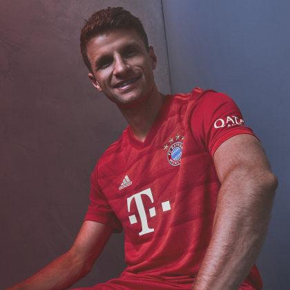 True Red Deutschland Heimtrikot Rot Bayern München Authentic Fc Fcb Adidas NnwOvy0m8