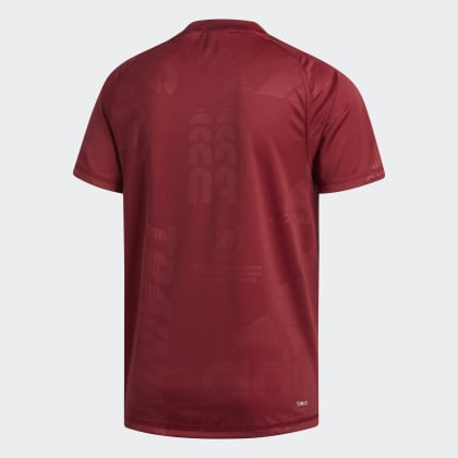 shirt BurgundyColored Freelift Press Rot Collegiate Deutschland T Adidas Daily Heather jR34A5L