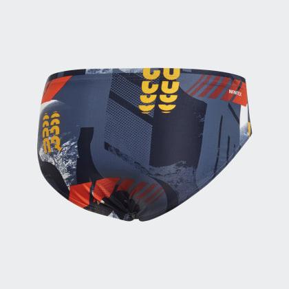 Graphic Deutschland Gold Blau Tech Adidas Fitness Badehose InkReal Ig67bfyvY