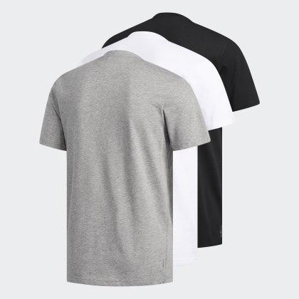 Grau Core Adidas HeatherWhite Black Deutschland T shirts3 Stück wm8n0Nv