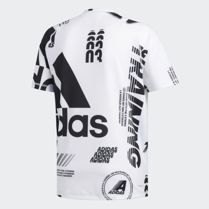 Deutschland T White Print shirt Weiß Freelift Daily Adidas EIWDYH29