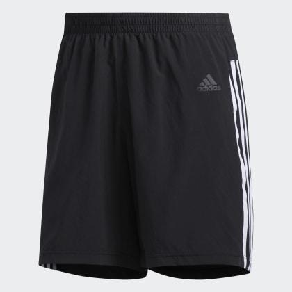 It Adidas Run 3 Shorts Black Schwarz Deutschland streifen KJ31TFlc