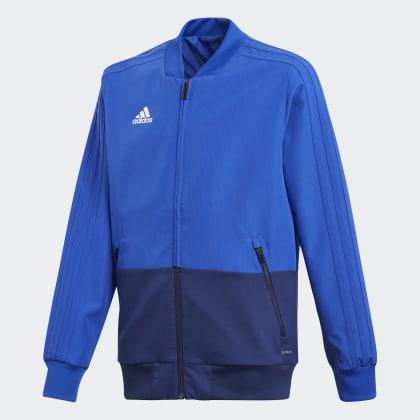 Deutschland Condivo White Bold Adidas 18 Präsentationsjacke Blau BlueDark Yyf76bgv