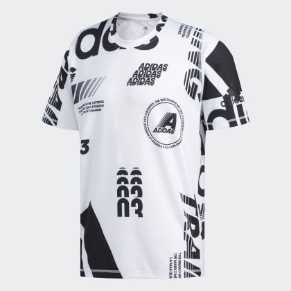 T Daily Print Deutschland Adidas shirt Freelift White Weiß kZOXPui