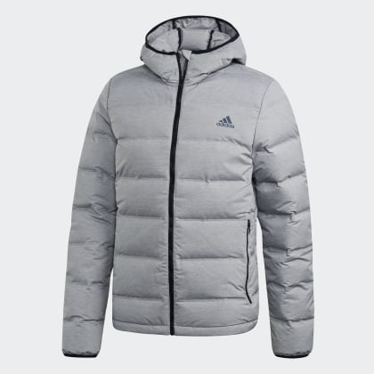 Jacke Grau Helionic Heather Grey Adidas Medium Deutschland PkZuOXi