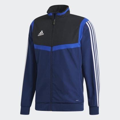 Tiro BlueBlack Deutschland Dark White Blau Adidas 19 Präsentationsjacke by76Yfg