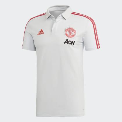 United Grau Red Adidas Manchester Poloshirt Deutschland Clear GreyBlaze 5RjcLAq43