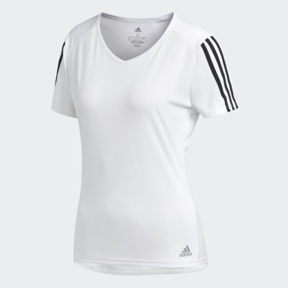 Deutschland Adidas T Weiß Running streifen 3 shirt WhiteBlack 8wNP0nOkX