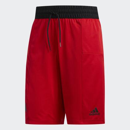 Sport Adidas 3 streifen Shorts Scarlet Rot Deutschland POkXuZi