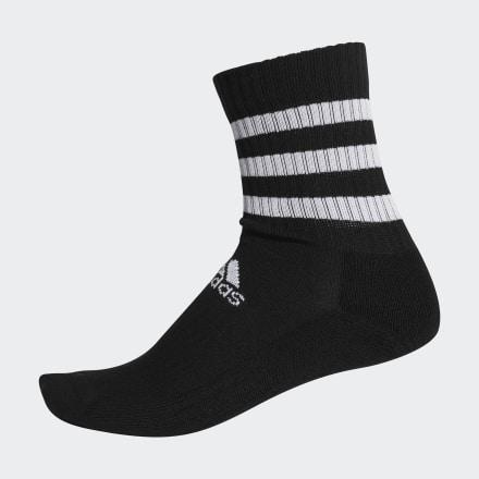 ถุงเท้าความยาวครึ่งแข้งนุ่มสบาย 3-Stripes, Size : KS