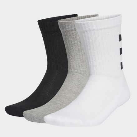 ถุงเท้าความยาวครึ่งแข้ง 3-Stripes Half-Cushioned (3 คู่), Size : XS