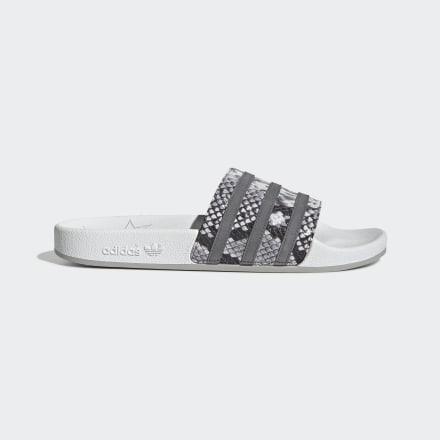 мужские шлепанцы adidas, белые