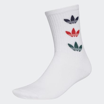 ถุงเท้าความยาวครึ่งแข้ง Trefoil Cuff (2 คู่), Size : XS