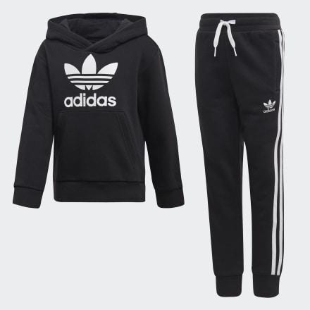 ชุดเสื้อฮู้ดและกางเกง Trefoil, Size : 104