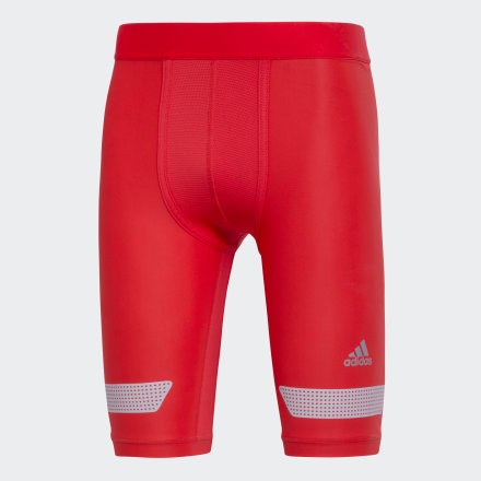 перчатки adidas, красные