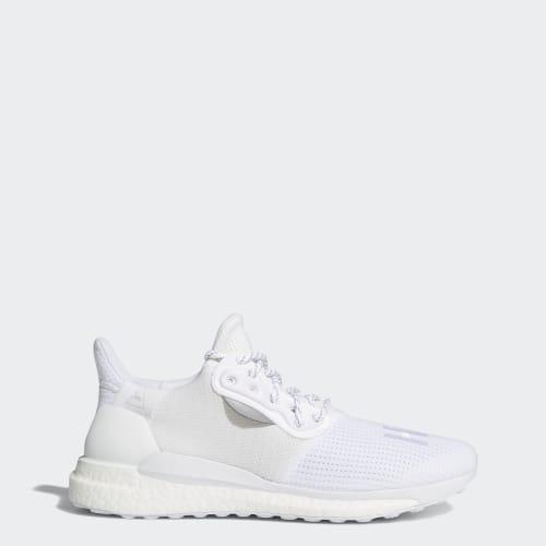 Pharrell Williams x adidas Solar Hu PRD Shoes, (Cloud White / Cloud White / Cloud White), Invalid Date