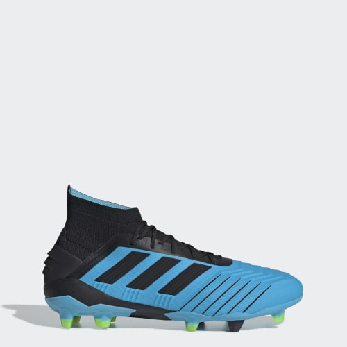 Predator 19.1 Firm Ground Cleats, (Bright Cyan / Core Black / Solar Yellow), Invalid Date