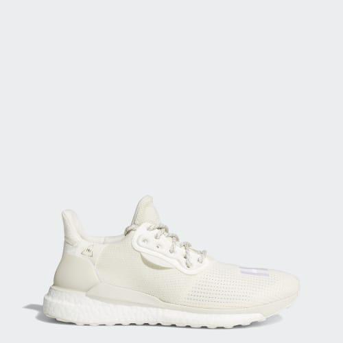Pharrell Williams x adidas Solar Hu PRD Shoes, (Cream White / Raw White / Off White), Invalid Date