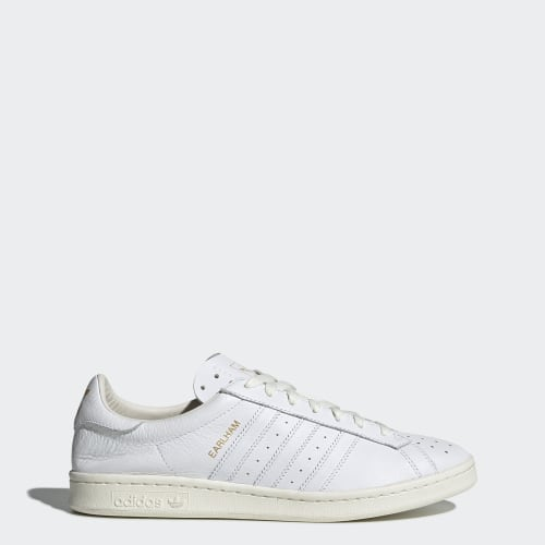 Earlham SPZL Shoes, (Core White / Core White / Off White), function productLaunchDate(product, formatDate) {   return formatDate(product.attribute_list.preview_to, 'dddd DD MMMM'); }