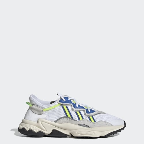 OZWEEGO Shoes, (Ftwr White / Grey One / Solar Yellow), function productLaunchDate(product, formatDate) {   return formatDate(product.attribute_list.preview_to, 'dddd DD MMMM'); }