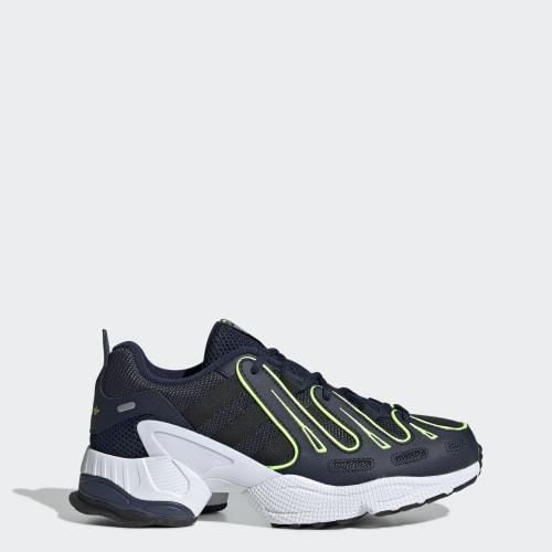 EQT Gazelle Shoes, (Collegiate Navy / Silver Metallic / Solar Yellow), Invalid Date